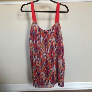Nicole Miller Double layer-split front Cami